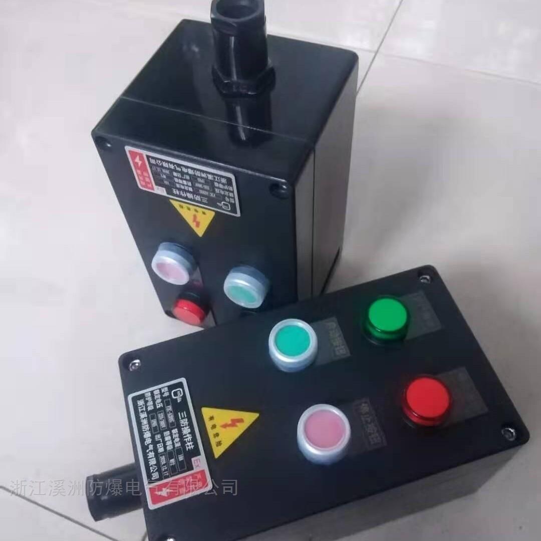 2灯2钮挂壁式防水防尘防腐控制箱