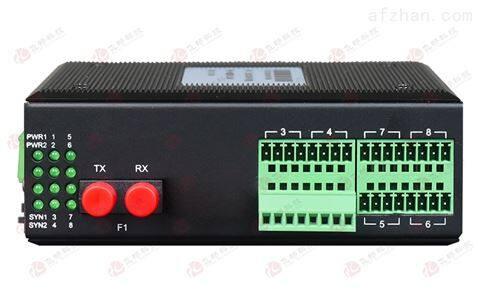 工业轨式16路单向/8路双向开关量光端机