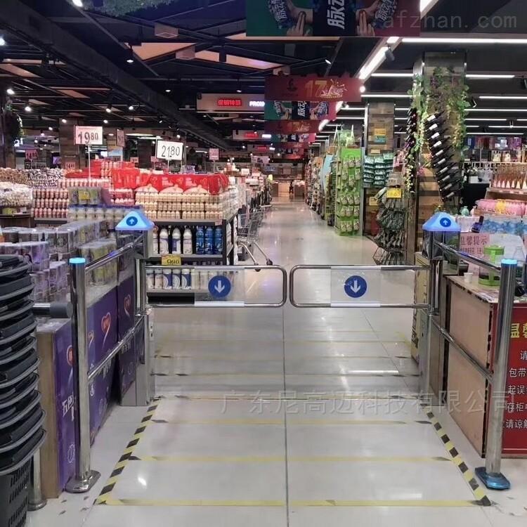 超市出入通道感应单向闸机