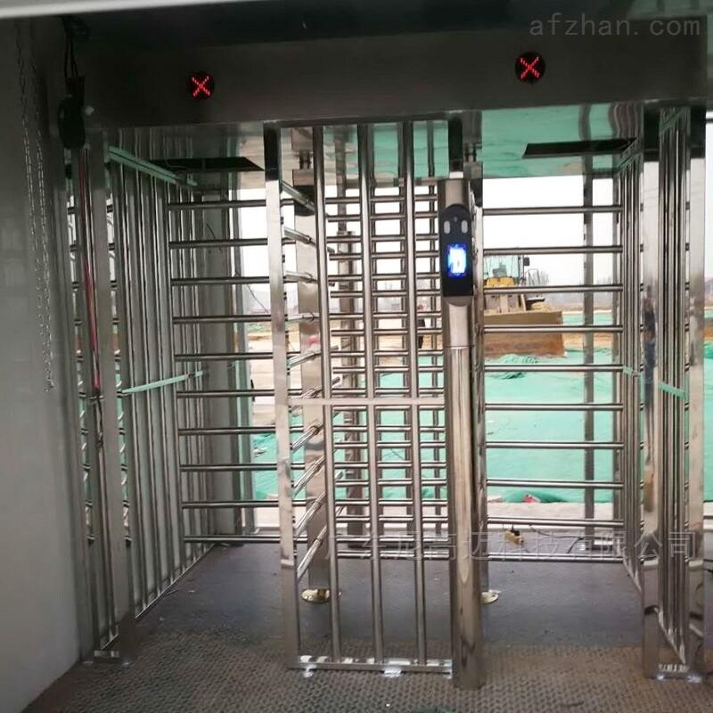 双通道单向90度全高转闸 不锈钢回转门
