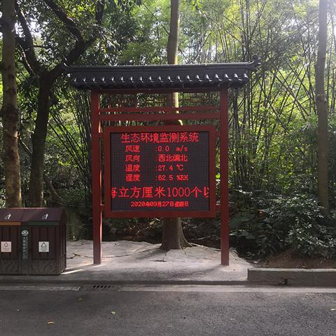 梅州市健康产业园负氧离子含量检测