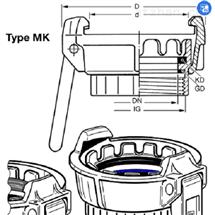 MK 80 AlELAFLEX TW罐车接头MK