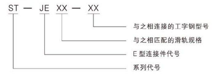 E型连接件型号释义图